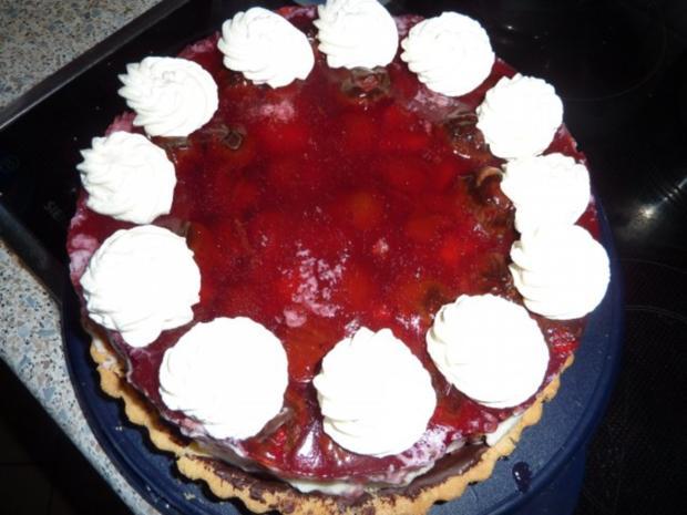 Torten: Erdbeertorte mit Pfefferminze - Rezept - Bild Nr. 10