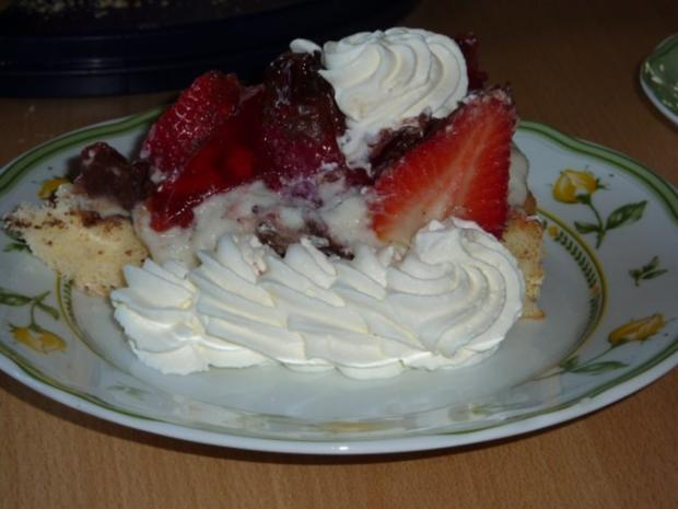 Torten: Erdbeertorte mit Pfefferminze - Rezept - Bild Nr. 13