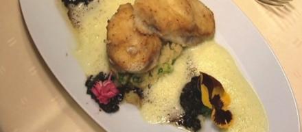 Seeteufel mit Olivensoße auf Couscous - Rezept