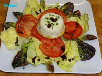 Überraschungsei auf Salatbett - Rezept