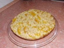 Pfirsich- Krümelkuchen - Rezept