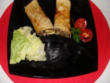 Gemüse : - Pfannkuchen mit Pilzfüllung - Rezept