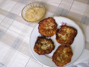 Rezept: Klitscher (Kartoffelpuffer) mit Apfelmus