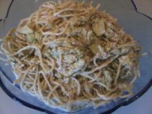Spaghetti mit Gemüse & Thunfisch - Rezept