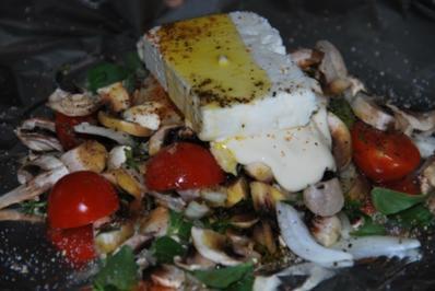 Feta-Gemüsepäckchen für den Grill - Rezept