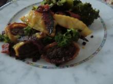 Gebratene Maultaschen mit Brokkoligemüse und Chorizowurst - Rezept