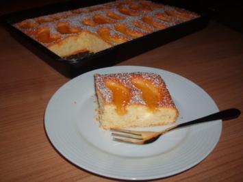 Pfirsichkuchen vom Blech - Rezept