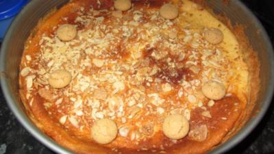 Käsekuchen mit Amaretto - Rezept