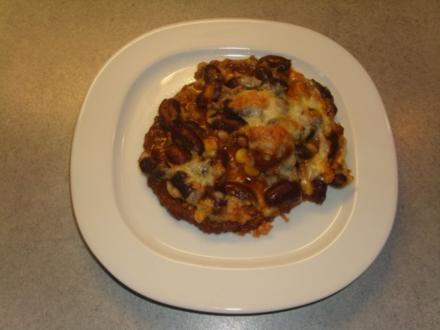Tellergerichte: Käse auf Bohnen, Bohnen auf Kartoffeln - Rezept