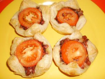 Speck-Tomaten-Körbchen - Rezept
