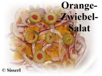 Orangen-Zwiebel Salat - Rezept