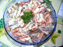 Leichter Nudelsalat aus Peperoni - Basilikumnudeln - Rezept