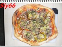 Pizza Tonno-Funghi - Rezept