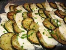 Zucchini-Mozzarella-Salat - Rezept