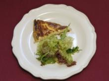 Quiche Lorraine an Salat mit Honig-Vinaigrette (Saskia Valencia) - Rezept