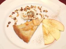 Omas Apfeltarte mit karamellisierten Nüssen - Rezept