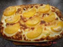 Auflauf & Co. : Reis-Quark-Auflauf mit Pfirsichen  (Bilder....) - Rezept