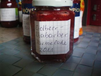 Meine Erdbeer-Rhabarber-Marmelade - Rezept