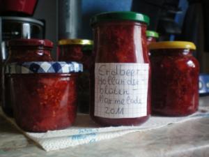 Meine Erdbeer-Holunderblüten-Marmelade - Rezept