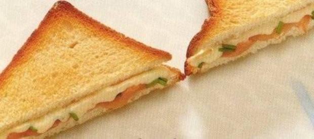laks sandwitch - Rezept