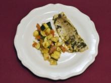 Meerbarbenfilets mit Zucchini - Rougets aux courgettes (Saskia Valencia) - Rezept