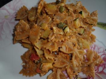 Thunfisch-Kapern-Pesto-Nudeln - Rezept