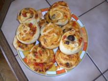 Pizza Schnecken - Rezept