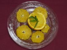 Orangensorbet mit Muskatteller und Orangensalat (Saskia Valencia) - Rezept