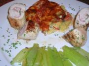 Puten Saltimbocca mit Kartoffel-Tomaten-Gratin - Rezept