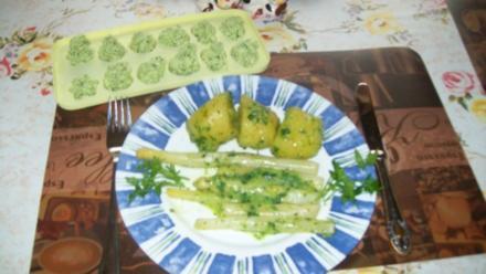 Spargel mit Kartoffel und Petersilienbutter - Rezept