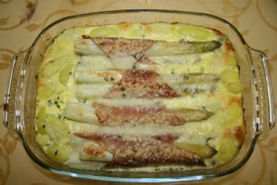 Spargelauflauf mit Kartoffeln - Rezept