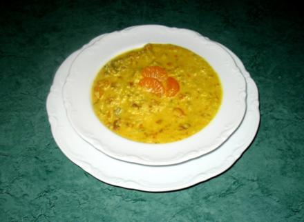 Suppe/Sahnig - Pikantes Curry-Sahne-Süppchen - Rezept