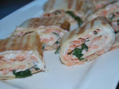 Lachs-Tortillarollen - Rezept