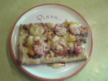 Fruchtig-scharfe Hackfleisch-Pizza - Rezept
