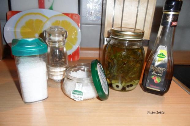 Salat mit Feta und frischen Himbeeren - Rezept - Bild Nr. 2
