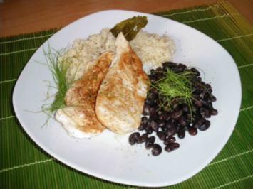 Hähnchensteak mit schwarzen Bohnen - Rezept