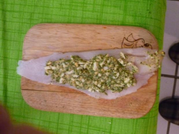Fischroulade in Kräuter- Senfsauce - Rezept - Bild Nr. 4