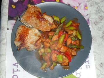 Saltimbocca mit bunter Gemüsepfanne - Rezept