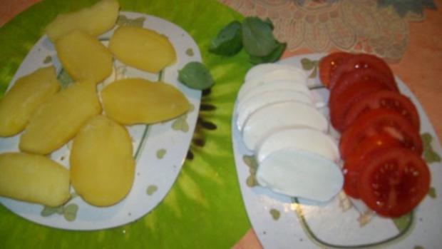 Irenes  schnelle- Mozzarella- Kartoffel- Türmchen - Rezept - Bild Nr. 2