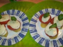 Irenes  schnelle- Mozzarella- Kartoffel- Türmchen - Rezept