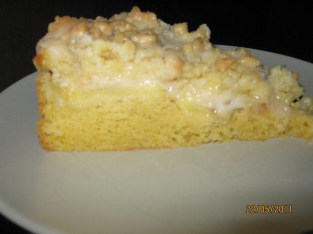 Streuselkuchen mit Apfel - Rezept