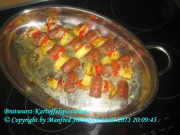Fleisch – Bratwurst-Kartoffelspiesschen - Rezept