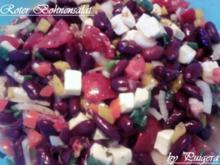 Beilage: Bohnensalat in Rot - Rezept