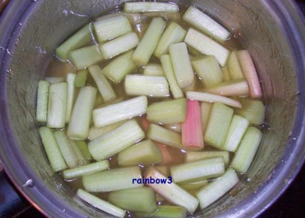 Dessert: Rhabarberkompott - Rezept