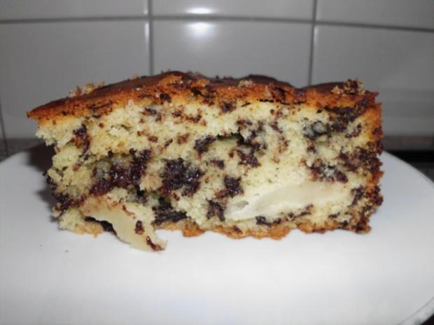 Birnenkuchen mit Schokolade - Rezept