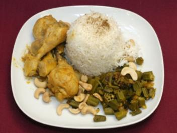 Rezept: Chicken-Curry mit Okra Bahji (Collien Fernandes)