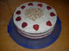Erdbeersahne-Torte - Rezept