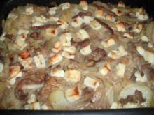 Gyrosauflauf mit Kartoffeln und Feta - Rezept
