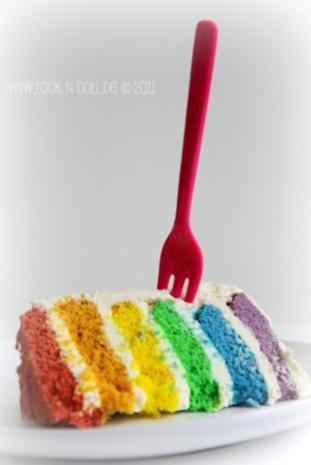 Regenbogenkuchen - Rezept - Bild Nr. 2