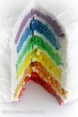 Regenbogenkuchen - Rezept - Bild Nr. 3